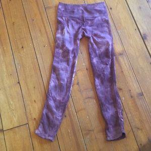 Leggings.  Pink tie dye. M/L